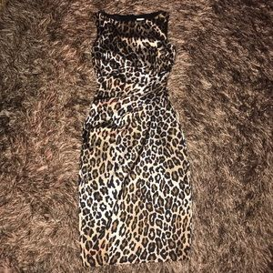Animal print dress by Cache